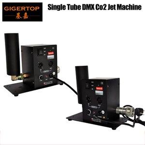 Ücretsiz Kargo 2adet / Lot Tek Tüp CO2 Makinesi Jet Effect Sahne Aydınlatma Co2 Effect DMX512 Sütun Jet Ekipman 110V / 220V Tp -T27 Çekim