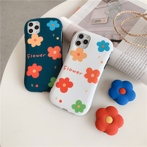 Colorful Flower Skinny Waist ins Popular Mobile Phone Case Cover for iphone 11 pro max 7 8 plus x xr