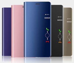 Huawei P30 Pro Lite Luxus-Designer-Handy Fall Honor 20 Plattierung Spiegel NOVA5i Halter Smart Protection Ledertasche alle Modelle