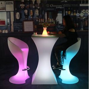 110CM alta Led tavolo da cocktail luminoso ricaricabile Bar Table IP54 illuminato tavolo per club Coffee Shop Mobili commerciali