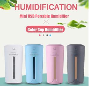 DHaws 230 ml Hava Nemlendirici USB Hava Temizleme Spreyi LED Aromaterapi Difüzör Mist Maker Ev Oto Mini Araba Nemlendiriciler için