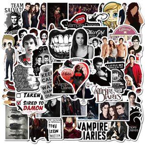 50 ADET diy Kaykay Bavul Gitar Bagaj Laptop Sticker için Vampire Diaries tv su geçirmez çıkartmalar