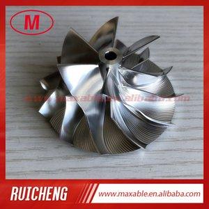 TD04HL 6 + 6 palas 45.00 / 64.89mm alto rendimiento Turbocompresor Billet / molienda / aluminio 2618 de rueda del compresor