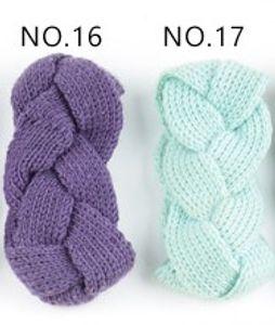 violet clair mazarine élastique à tricoter bande de cheveux à la main de laine fil bandeau accessoires pour chaud automne et d'hiver Cheveux Bandes