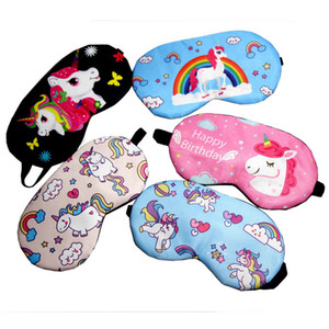 Dormir Unicorn Máscara bonito do unicórnio Blindfold tampa do olho macia para dormir Máscara Eye Patch Aid Shading Eye Cotton Eyeshade