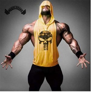 Muscleguys Marka Giyim Spor Tank Top Erkekler Stringer Altınları Vücut kas Gömlek Egzersiz Yelek Atlet Artı Boyutu spor salonları