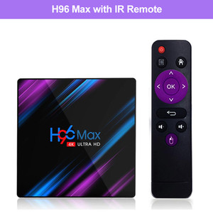 H96 MAX RK3318 Android 9.0 TV Box En 4G 32G Çift Wifi 2.4G 5G BT 4.0 4K HD Smart kutusu