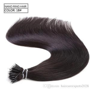 1g / с 100s Бразильский Micro Nano кольца петли человеческих волос 100% Remy волосы прямые 18Colors + 100шт Nano Кольца Бусинки