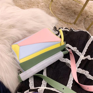 Tt сумка Puzzle Большие сумки Мода L0 сумка Идеальный цвет Одно плечо сумка Geometry пакет Hot Sale # способа прибытия роуд Размер 24см 15 Cm