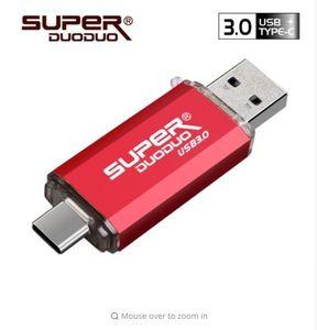 Förderung-bunte USB 3.0 TypC Metall USB-Stick USB-Stick 16GB 32GB 64GB 128GB Schlüssel USB-Stick USB-Stick Flash-USB3.0 für TypC Telefon