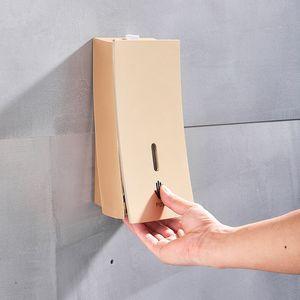 Champaign Ouro de montagem na parede sabonete Líquido Líquido Shampoo Shower Container Sabão Branco Preto Suporte para banho Washroom