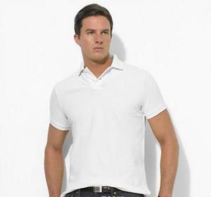 Camiseta de los hombres del polo de Ralph camisa de trabajo camisa de polo del diseñador de solapa polo bordado GGG el envío libre de los hombres de los hombres