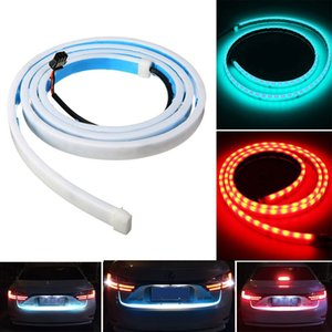 Faixa de LED Lighting Car Trunk traseiro Luz Traseira Dinâmica Streamer Brake sinal de volta Leds reversa luz de advertência lâmpada de sinal