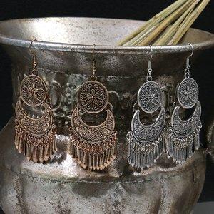 Boucles d'oreilles pendentif pompon boucles d'oreilles Cour de motif vintage accessoires européens et américains exagérées bijoux Electroplating