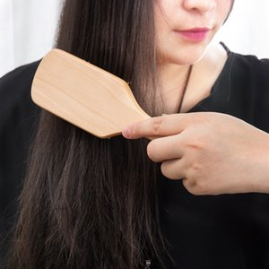 1 Comb Hair Care Brush Massage Wooden Spa Massage Comb 2 Color Antistatic Hair Comb Massage Head Promote Blood Circulation Hot Sale