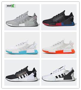 adidas nmd on Box de alta calidad HUMAN RACE Pharrell Williams Hombres mujeres zapatillas de deporte diseñador des chaussures Sport schuhe plus size 36-47