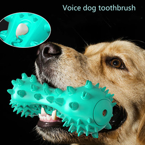 Amazon dog toy grinding teeth stick resistant to gnawing teeth bone toothbrush puzzle voice dog toy pet supplies