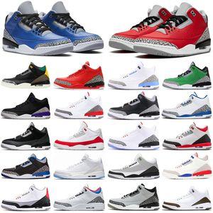nike air jordan retro 3 stock x 3s noir ciment hommes chaussures de basket Tinker Mocha UNC Katrina baskets de sport pour hommes