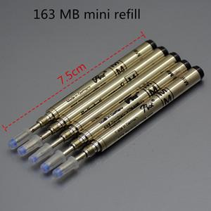 Canetas de luxo recargas 10 Pçs / lote 163 MB mini caneta recarga cheia de metal haste cartucho Apenas para curto Rollerball caneta de recarga de tinta preta acessórios