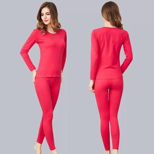 roupa interior térmica em torno do pescoço de algodão calças compridas Outono e inverno das mulheres de tamanho grande