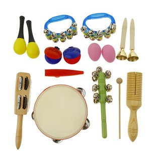 Orff Musical Instrument Toy Set 10 Type Mini Percussion for Toddlers Kids Children