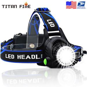 Projecteur LED 3modes T6 Zoomable Led lampe frontale Lampe torche Phare avec lumière étanche pour la pêche en plein air