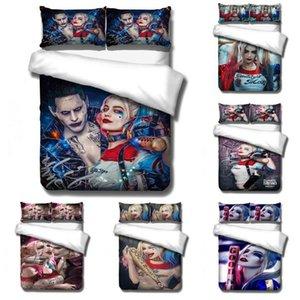 Куинн 3D печатные постельные принадлежности комплект постельных принадлежностей пододеяльник с наволочкой Клоун убийца США AU EU размер комплект постельного белья