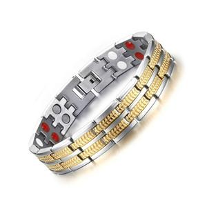 Titânio Magnetic Saúde Holograma Bracelet For Men Nunca desvanece-se elementos de alta qualidade germânio infravermelho distante