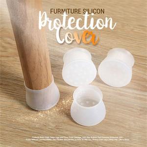 Мебель Кремний Защитная крышка - Стул для ног Крышки силиконовых пола Protector Круглого стола Мебели Ножка Обложка NEW