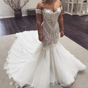 Boho Dantel Deniz Kızı Gelinlik Off Omuz Kısa Kollu White Beach Wedding Gelinlik Vestido De Noiva