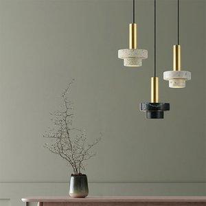 Nordic Marble Pendant Light Luxury Shop Bar Home Living Room Bedroom Bedside Ceiling Light Chandelier PA0703