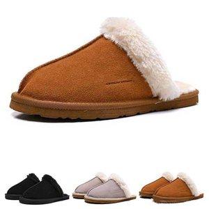 De calidad superior del diseñador de invierno Australia zapatilla zapatillas para mujer peluda caliente rosa negro gris de los deportes cómodo cálida manera de la muchacha