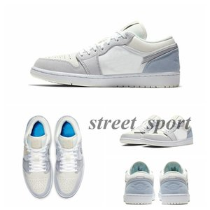 (Máscara de venda) 2020 sapatos novos cinza azul mulheres tênis de basquete Low homens paris Sapatos de camurça 1s paris sapatilhas zapatos
