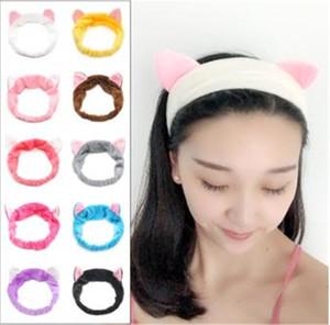 Moda donna fasce carino gatto orecchie di gatto fascia per capelli per le donne ragazza lavare il viso trucco copricapo ladro signora vasca maschera porta accessori per capelli DC538