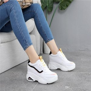 Hot Sale-New Casual High Platform Shoes Women Breathable Height Increasing Shoes 10CM Thick Sole Trainers Sneakers Woman