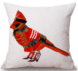 Pigeon Postman Soldier Neck Body Pillowcase Linen Bed Pillows Cover Couch Seat Cushion Throw Pillow Home Decoration Gift