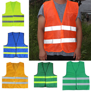 Riflettente banda Traffico Gilet ad alta sicurezza maglia di visibilità per Sanitari Worker aggiunto di polizia abbigliamento da lavoro WX9-1810