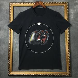 Famosa camiseta de verano Mono enojado de impresión Negro de manga corta blanca de algodón Camisas Hombres Mujeres Camisetas camisetas S-2XL