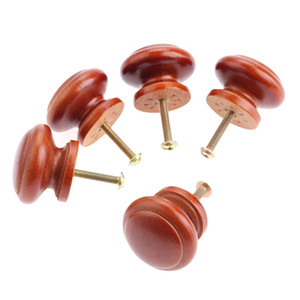 5 unids 35 * 25 mm de madera manijas de muebles de madera perillas y manijas del gabinete cocina cajón puerta tirones muebles Hardware