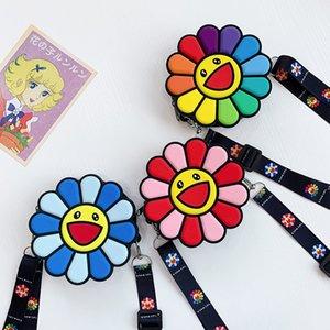 Sunflowers Coin Purse Cute Funny Cartoon Soft Silica Gel Keys Wallets Women New Style Fashion Shoulder Bags Storage Money Bag
