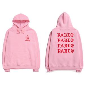 19SS Hip Hop Sudaderas Hombre me siento como Pablo Streetwear sudaderas con capucha de Anti Carta Social Imprimir con capucha del club