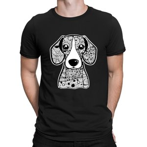 Beagle Face Graphic Art T-Shirts Round Neck Natural Personality Sunlight Men's Tshirt Streetwear Loose Casual Anlarach Family