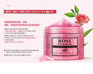 NUEVOS pétalos de rosa mascarilla hidratante mascarilla nutritiva, mascarilla facial mascarilla brillante, mascarillas para dormir, mascarilla, tratamiento, máscara negra