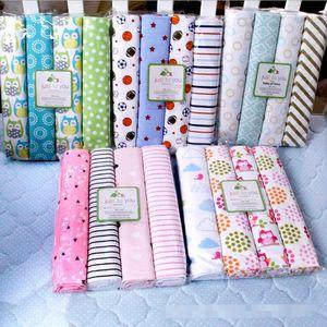 Literie pour Enfants Dot fleurs Feuilles d'impression de couchage Draps Draps coton Drap Couvertures bébé Flanelle Beding Blanket Linge de lit A1127