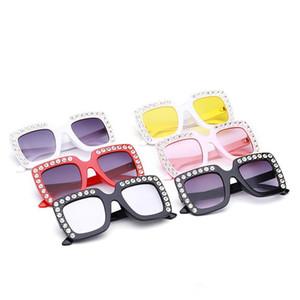 Kids Sunglasses Children Square Frame Diamond Sunglasses Eyewear Fashion Korean Baby Boys Girls Student Sunglasses Wholesale