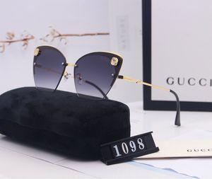 The new high quality ms cat's eye sunglasses womenLuxuryDesignerBrand1ggg sunglasses 1gUV400