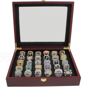 나무 디스플레이 상자 기념품 팬 남성 보이 선물 2020와 2018 랩터스 Basektball 팀 챔피언스 주위에 우승 반지 세트에 30PCS 1989