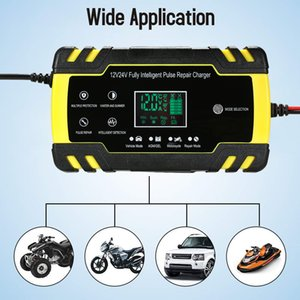 12v 6A/12V 8A 24V4A Full Automatic Car Charger Power Pulse Repair Charger Wet Dry Lead Acid Battery Digital LCD Display