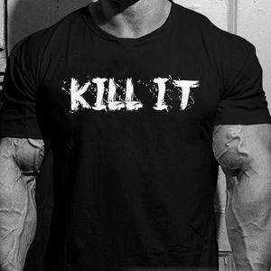 Мода 2019 верхний тройник мужские Рич Пиана убить его футболку + 5% назад печать | размер маленький | Бодибилдинг питание печать мужчины футболки C035