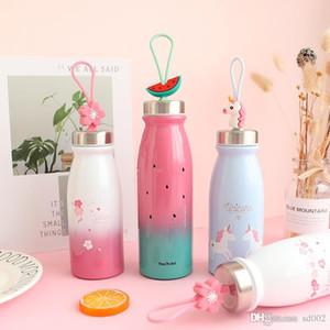 Einhorn-Wasserflasche Edelstahl Studenten Teetasse Geschlossene Mention Bügel Cups große Kapazitäts-Wassermelone Schöne Maiden 28 8pnb1